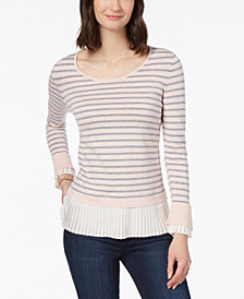 Charter Club Layered-Look Sweater, Created for Macy's