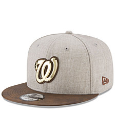 New Era Washington Nationals Oatmeal O'Gold 9FIFTY Snapback Cap