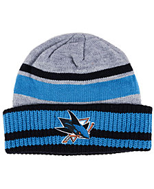 adidas San Jose Sharks Heathered Grey Beanie