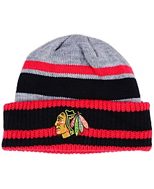 adidas Chicago Blackhawks Heathered Grey Beanie