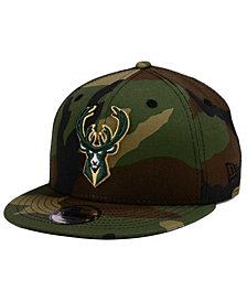 New Era Boys' Milwaukee Bucks Woodland Team 9FIFTY Snapback Cap