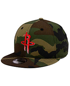 New Era Boys' Houston Rockets Woodland Team 9FIFTY Snapback Cap