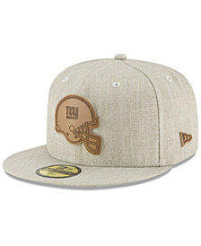 New Era New York Giants Heathered Helmet 59FIFTY Fitted Cap