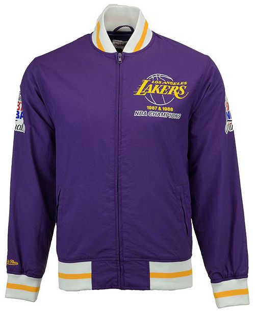 752ac31558f ... Up Jacket; Mitchell & Ness Men's Los Angeles Lakers Team History Warm  ...