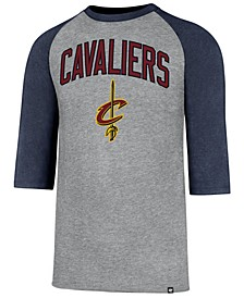 Men's Cleveland Cavaliers Zone Raglan Three-Quarter Sleeve T-Shirt