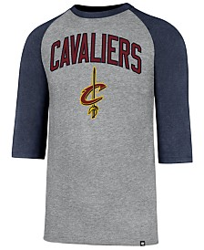'47 Brand Men's Cleveland Cavaliers Zone Raglan Three-Quarter Sleeve T-Shirt