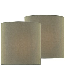 """Set of 2 Clip-on 5"""" Chandelier Drum Shade"""