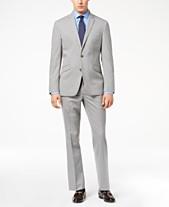 120e4f167c Kenneth Cole Reaction Men's Techni-Cole Light Gray Tonal Check Slim-Fit Suit