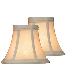 "Lite Source Set of 2 Clip-on 6"" Woven Chandelier Shade"