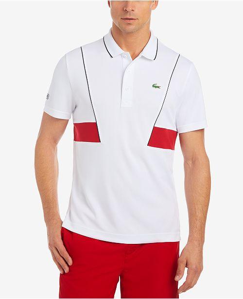 9fa32767193d Lacoste Men s Novak Ultra Dry Piqué Tennis Polo   Reviews - Polos ...