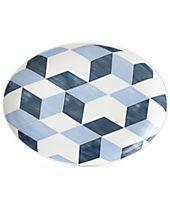 Lenox Luca Blue Azzurro Oval Platter