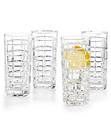 Godinger Radius Set of 4 Highball Glasses