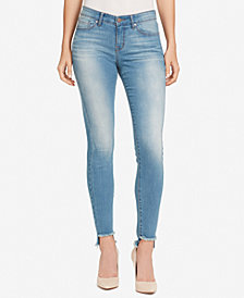 William Rast Frayed-Hem Skinny Jeans