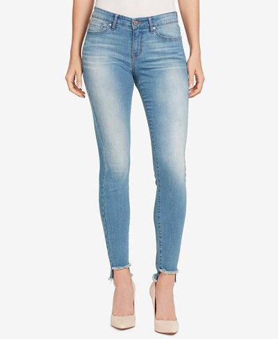 William Rast Frayed-Hem Skinny Jeans