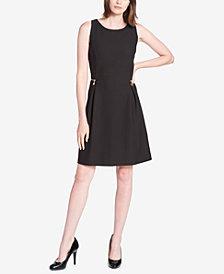 Tommy Hilfiger Zipper-Trim Ponté-Knit Fit & Flare Dress