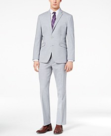 Men's Ready Flex Slim-Fit Stretch Sharkskin Suits