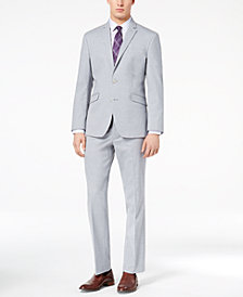 Kenneth Cole Reaction Men's Techni-Cole Slim-Fit Stretch Light Blue Sharkskin Suit