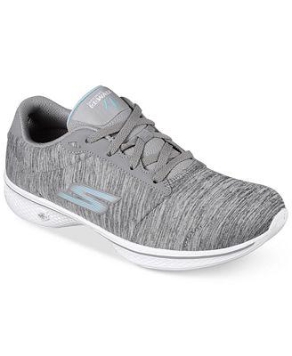 Skechers Go Walk 4 Women's Walking Sneaker Shoe Gray/White Size 10 & 11