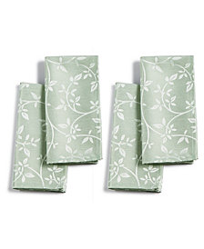 Homewear Belfort Leaves Green Set of 4 Napkins