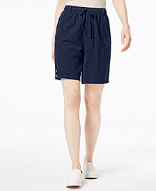 Karen Scott Petite Cotton Shorts, Created for Macy's