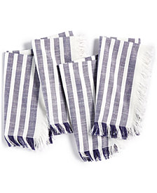 CLOSEOUT! Bardwil Madison Navy 4-Pc. Cotton Napkin Set
