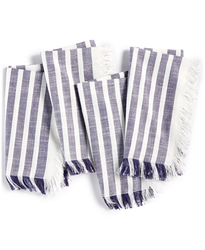 Bardwil Madison Navy 4-Pc. Cotton Napkin Set