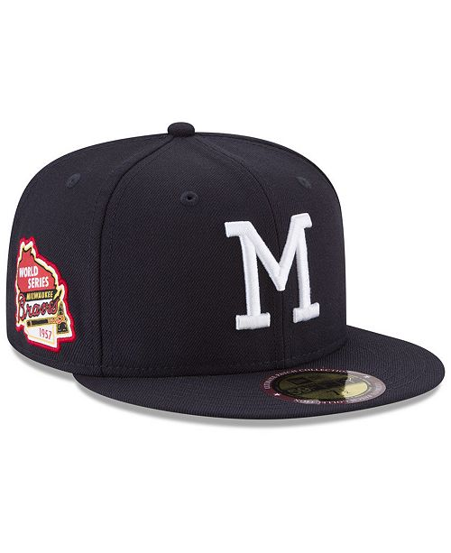 4273f5eea3b ... New Era Milwaukee Braves Ultimate Patch Collection World Series 2.0  59Fifty Fitted Cap ...