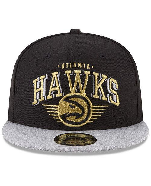 official photos eaebc 43361 ... reduced new era atlanta hawks gold mark 9fifty snapback cap sports fan  shop by lids men
