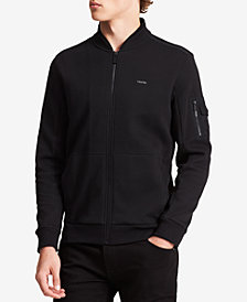 Calvin Klein Men's Textured Double-Collar Full-Zip Jacket
