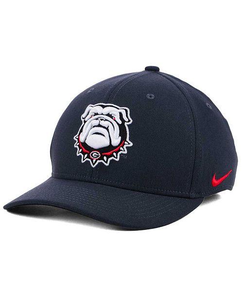 Nike Georgia Bulldogs Anthracite Classic Swoosh Cap - Sports Fan ... 2a903aff20a