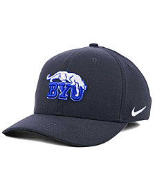 Nike BYU Cougars Anthracite Classic Swoosh Cap