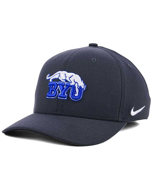 Nike BYU Cougars Anthracite Classic Swoosh Cap - Sports Fan Shop By ... 9baff1228f2