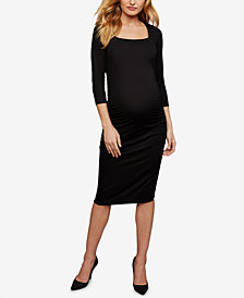 Isabella Oliver Maternity Square-Neck Sheath Dress