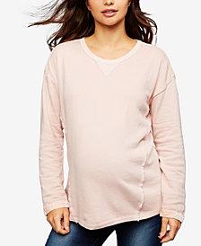 Splendid Maternity Cotton Sweatshirt