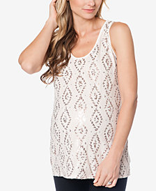 Liquid by Nell Couture Maternity Embellished Silk Top