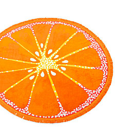 Martha Stewart Collection Round Beach Towel