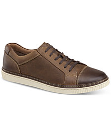 Johnston & Murphy Men's Walden Cap-Toe Suede Lace-Up Sneakers