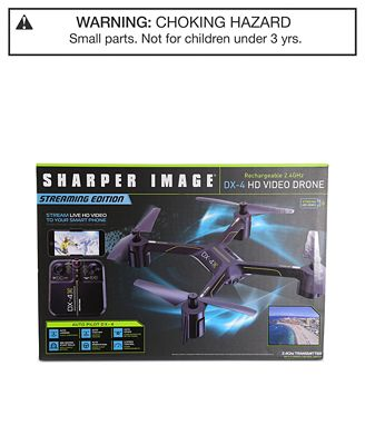 Sharper Image Rechargeable Dx 3 Video Drone Streaming Edition All
