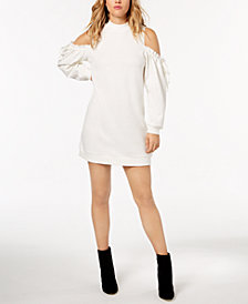 kensie Cold-Shoulder Sweatshirt Dress