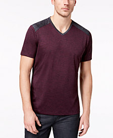 Alfani Men's Pieced V-Neck Performance T-Shirt, Created for Macy's