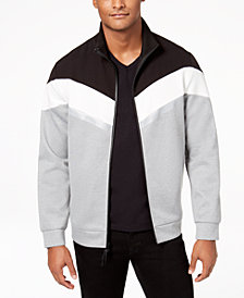 Kenneth Cole Reaction Men's Reflective Tape Full-Zip Jacket