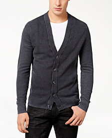 I.N.C. Men's Acid Wash Cardigan, Created for Macy's