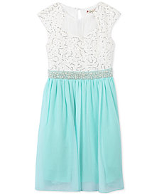 Speechless Sequined Lace-Bodice Dress, Little Girls