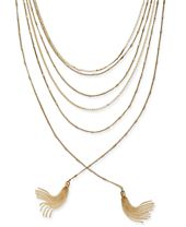 """I.N.C. Gold-Tone Multi-Chain & Tassel Layered Necklace, 17"""" + 3"""" extender, Created for Macy's"""