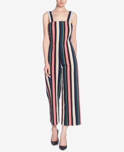 Catherine Catherine Malandrino Striped Cotton Jumpsuit