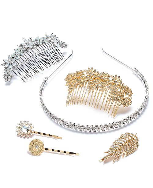 INC International Concepts I.N.C. Two-Tone Multi-Stone Hair Accessory Separates, Created for Macy's
