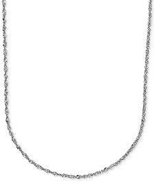 "16"" Italian Gold Perfectina Chain Necklace (1-1/3mm) in 14k White Gold"