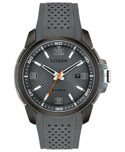 Citizen Drive From Citizen Eco-Drive Men's Gray Polyurethane Strap Watch 45mm