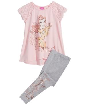 Disneys Beauty  The Beast Belle 2Pc Tunic  Leggings Set Little Girls (46X)