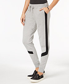 Material Girl Active Juniors' Colorblock Striped Sweatpants, Created for Macy's